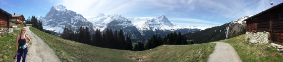 Pano of the Swiss Alps - #hikeDemBech