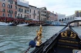 Venice from a gondola.