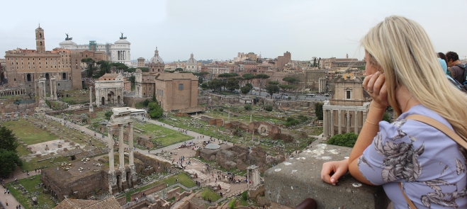 From the top of the Roman Forum