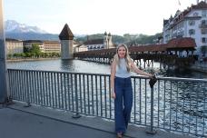 Medeval bridge in Lucerne.