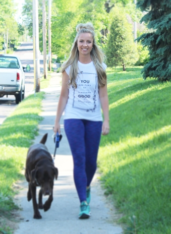 Dexter and I run together, walk together... we try to do something every day when I am home.
